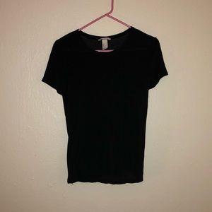 H&M Basics Black T-Shirt